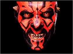 głowa, zęby, Star Wars, Darth Maul
